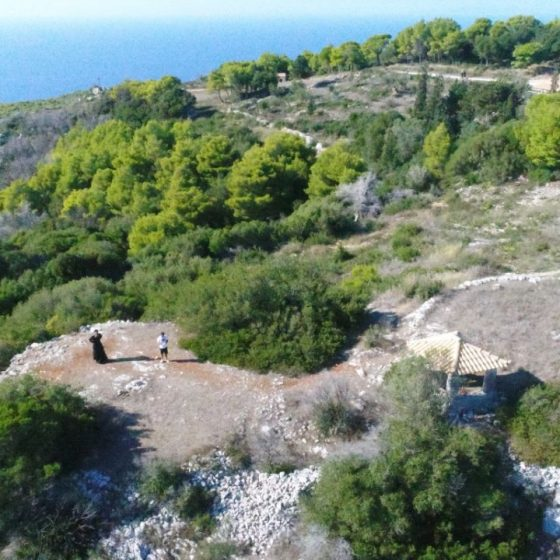 Άποψη του μοναστηρίου του Αγίου Γεωργίου των Γκρεμνών.
