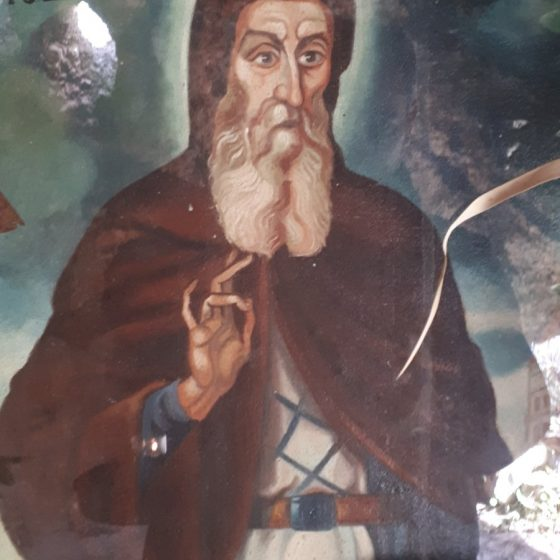 Το εικόνισμα του Αγίου Γερασίμου στο εσωτερικό της ομώνυμης σπηλιάς.
