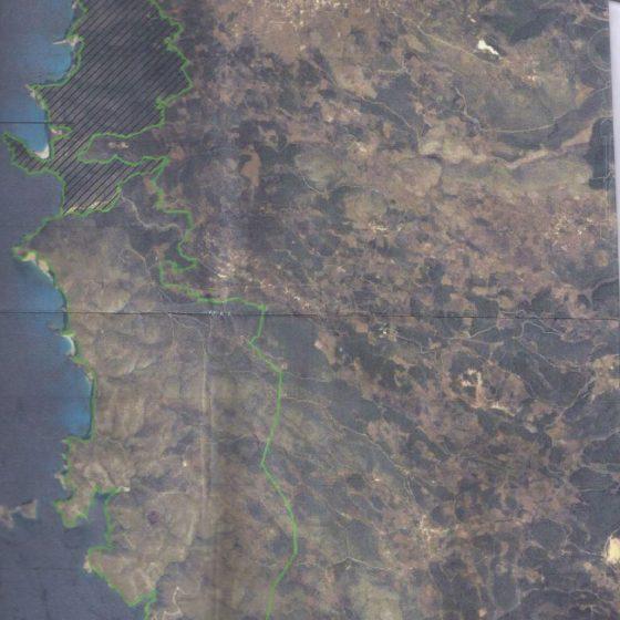 Η πωληθείσα έκταση από δορυφόρο.